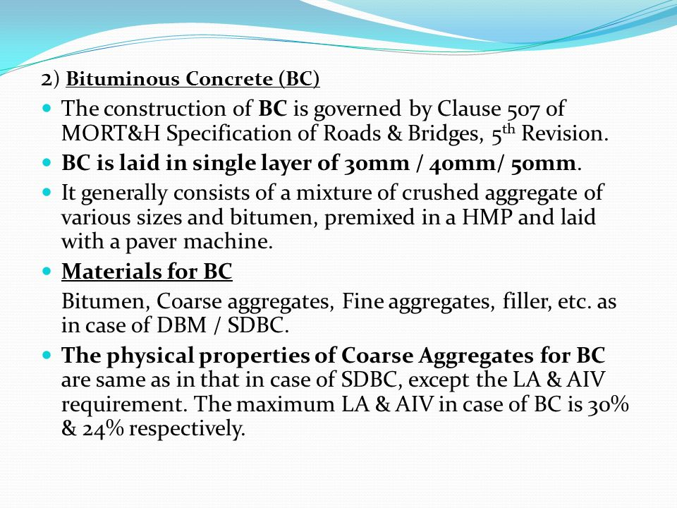 SPECIFICATIONS/ QUALITY REQUIREMENTS PERTAINING TO