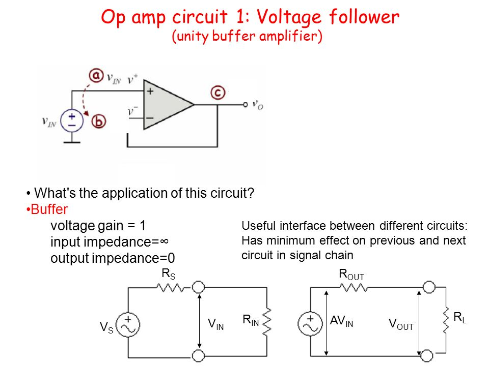 Op amp buffer circuit diagram search for wiring diagrams operational amplifier opamp ppt video online download rh slideplayer com basic op amps circuits basic op amps circuits ccuart Gallery