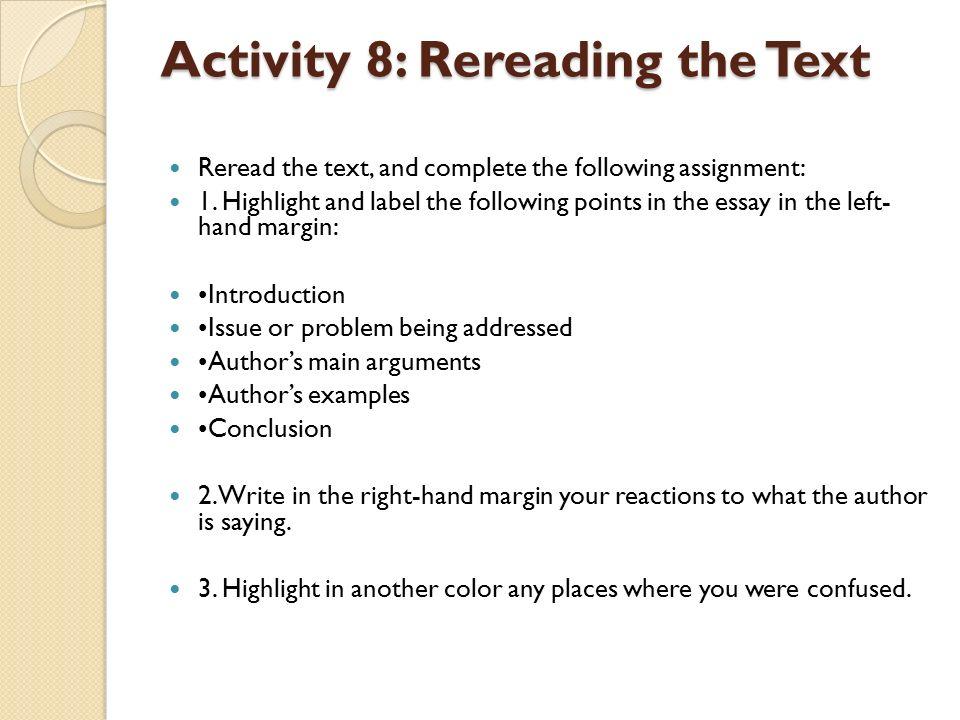 types of essay pdf reading comprehension