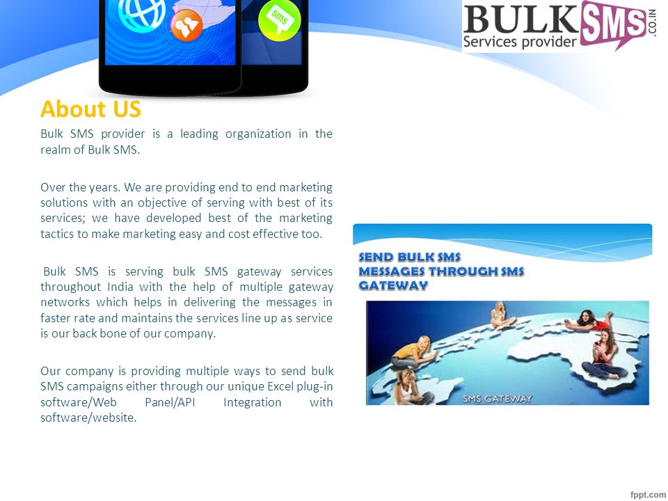 Bulk SMS Gateway - ppt download
