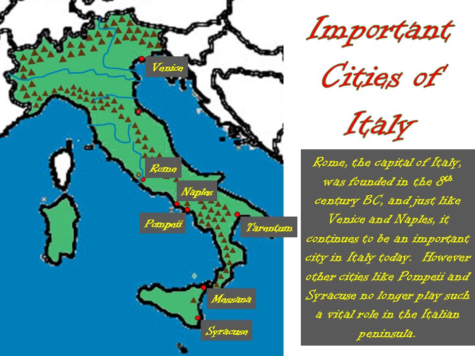 Tarentum Italy Map.Get To Know Italy Geography Ppt Video Online Download