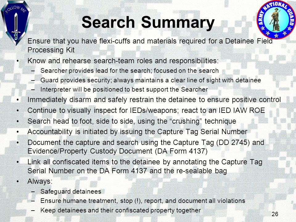 Process Detainees at Point of Capture - ppt video online