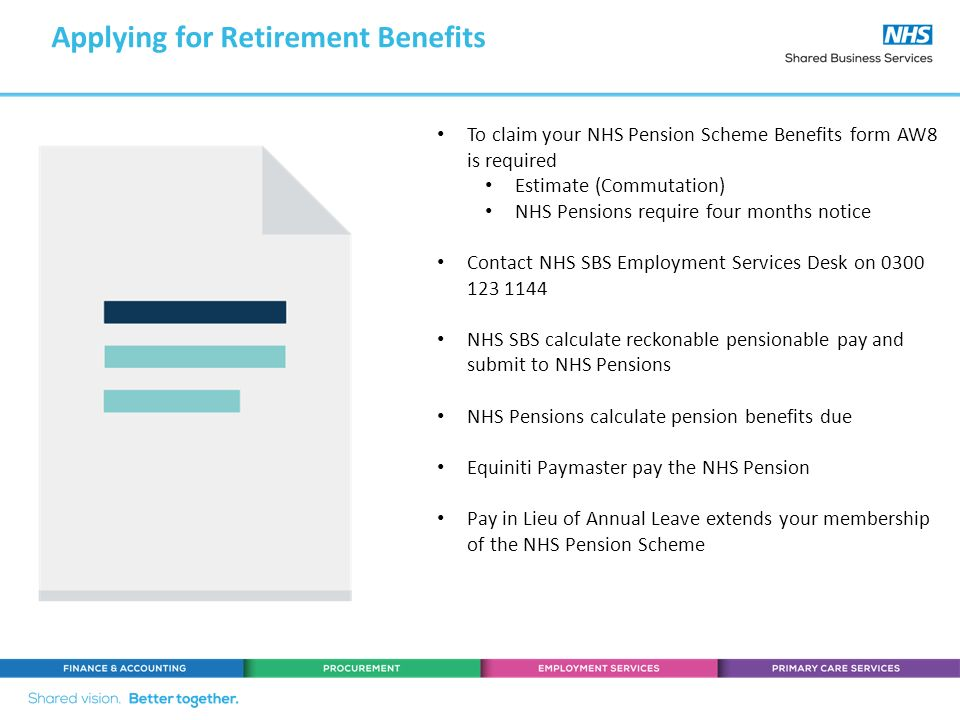 Nhs pensions online guide.