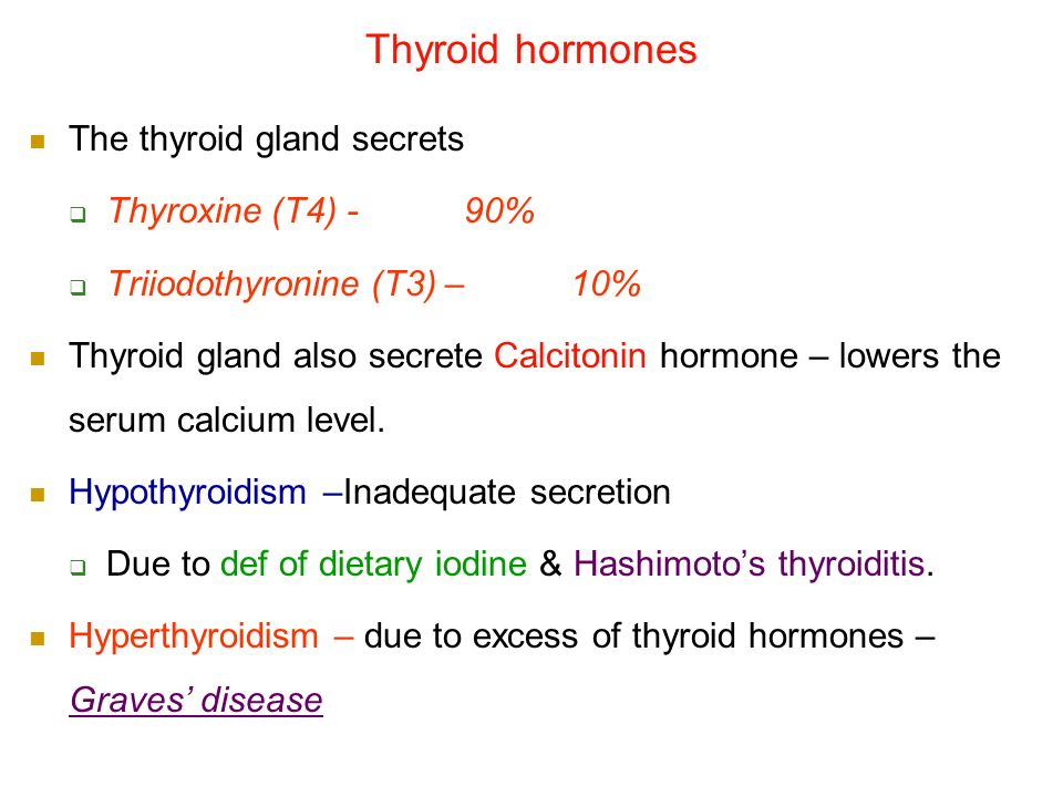 Thyroid Hormones Thyroxine T4 Triiodothyronine T3 Ppt Video