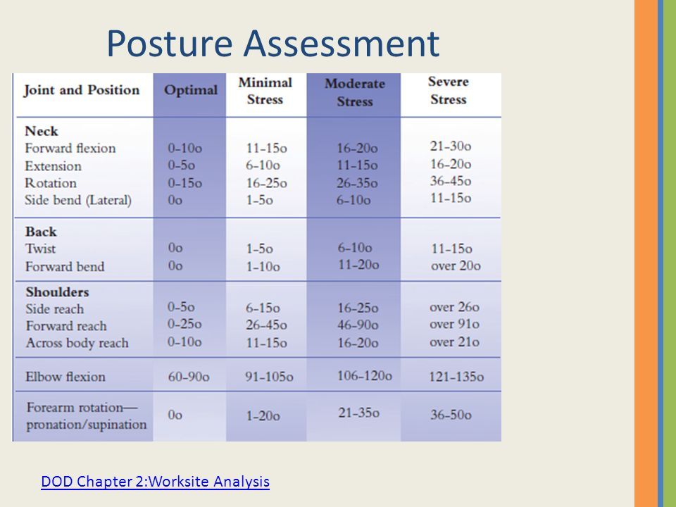 Posture Assessment DOD Chapter 2:Worksite Analysis