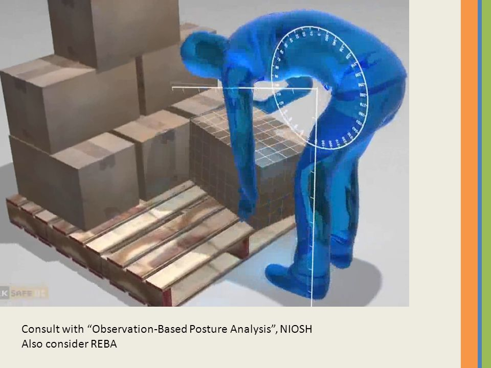 Consult with Observation-Based Posture Analysis , NIOSH