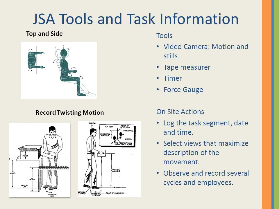 JSA Tools and Task Information