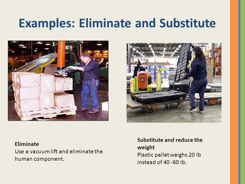 Examples: Eliminate and Substitute