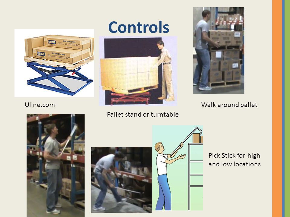 Controls Uline.com Walk around pallet Pallet stand or turntable