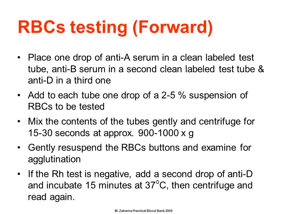 forward grouping blood test