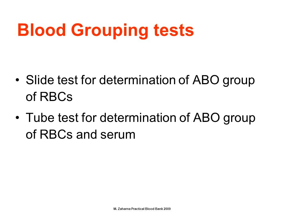 abo blood grouping method