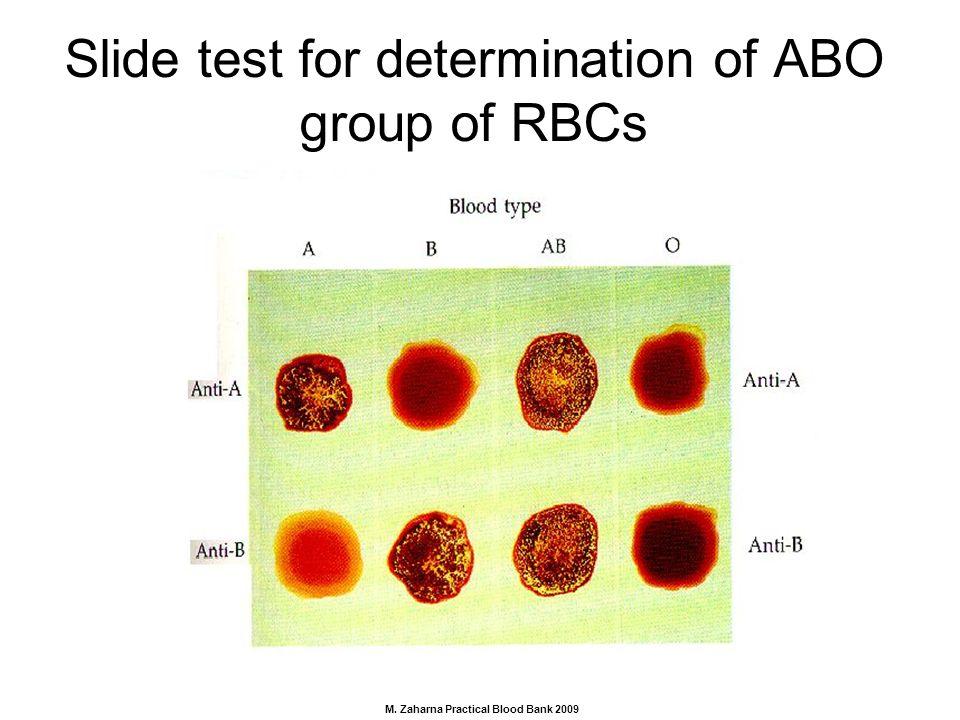 abo blood typing procedure
