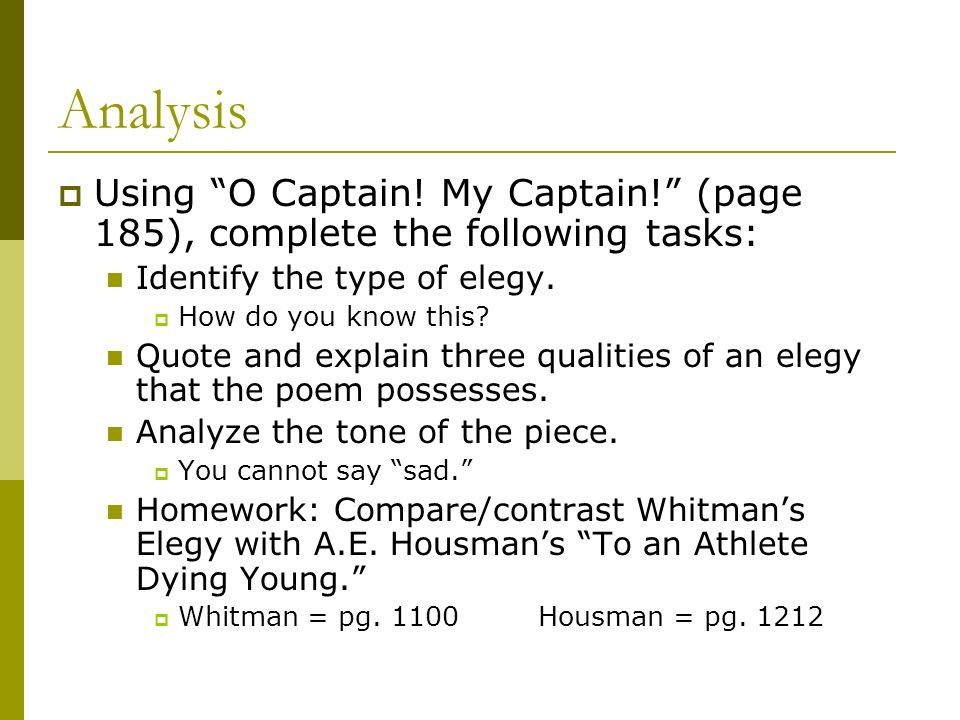 o captain my captain tone