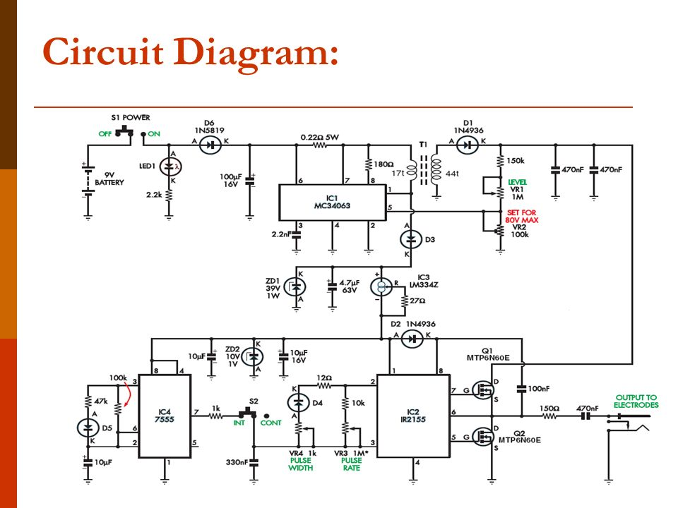 transcutaneous electrical nerve stimulation tens ppt download rh slideplayer com 7000 Tens Unit Circuit Diagram PT Circuit Diagram