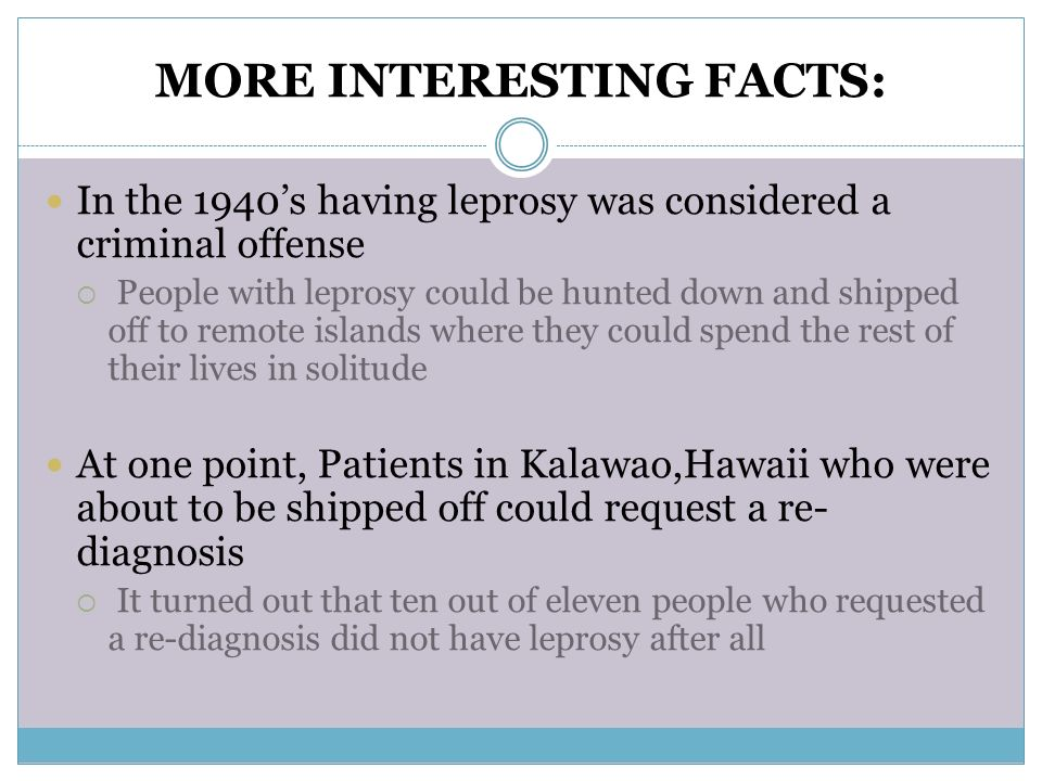 Interesting Facts About Leprosy
