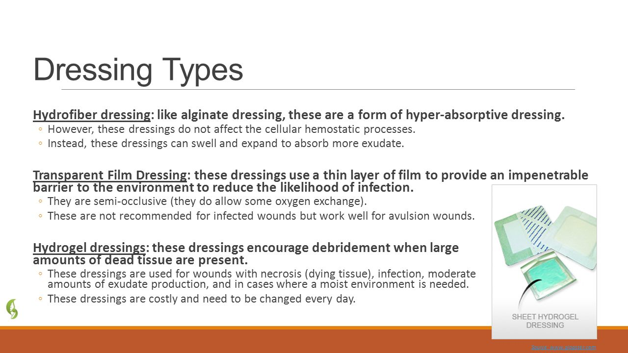 Types of dressings. Types of dressings and how to apply them 50