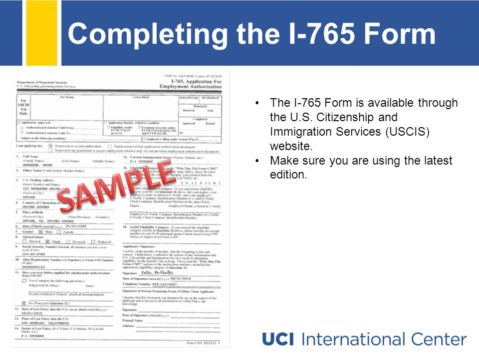 I 765 Form Images Free Form Design Examples