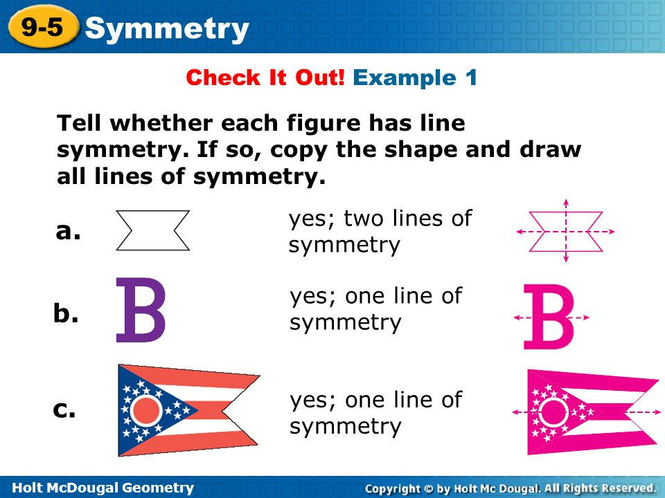 Symmetry 9 5 Warm Up Lesson Presentation Lesson Quiz Ppt Video