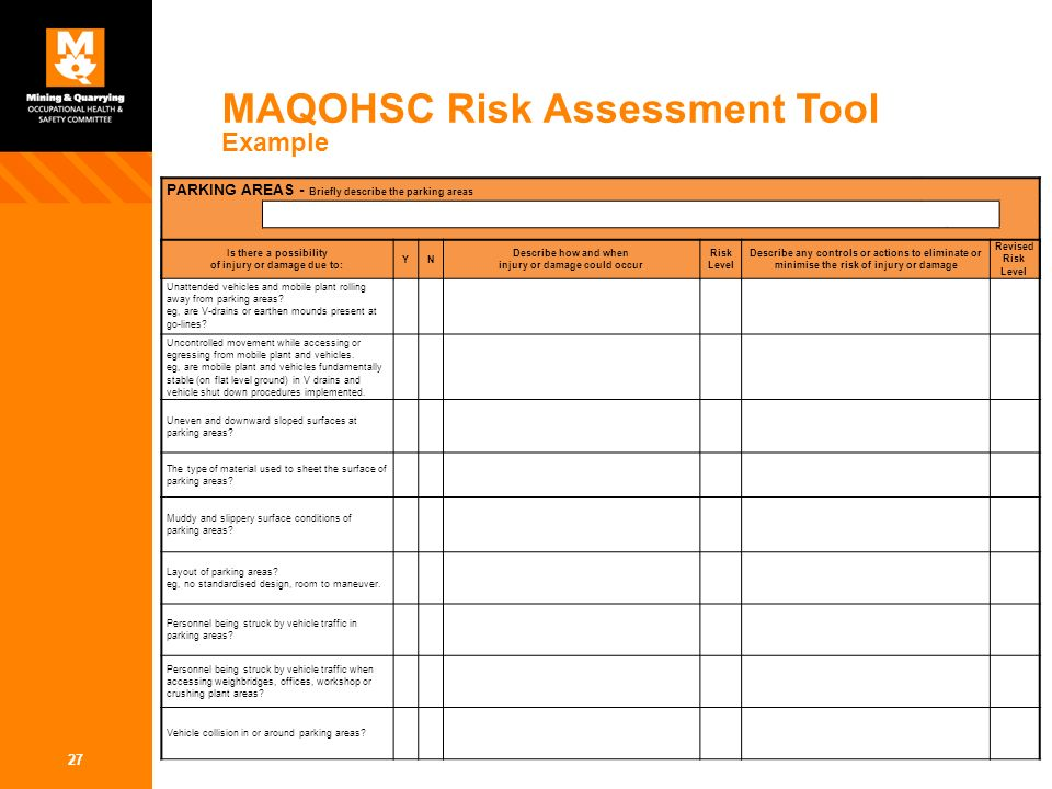 describe how to use a risk assessment