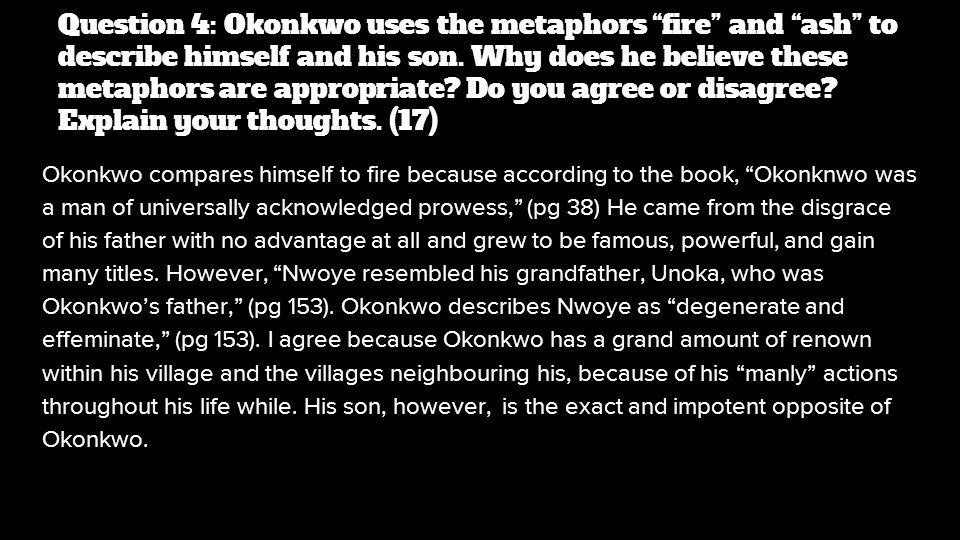 words to describe okonkwo