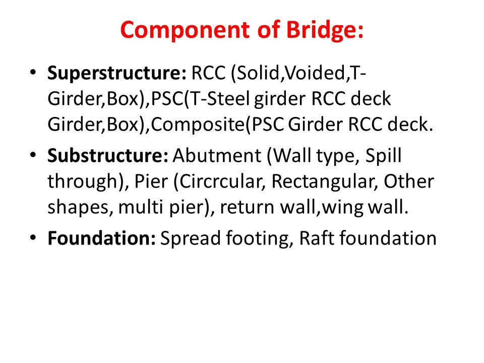 Types of bridges: The bridge whose length is more than 60 m