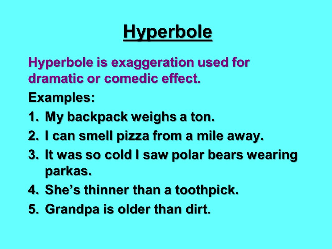 2 Examples Of Hyperbole Image Collections Example Cover Letter For