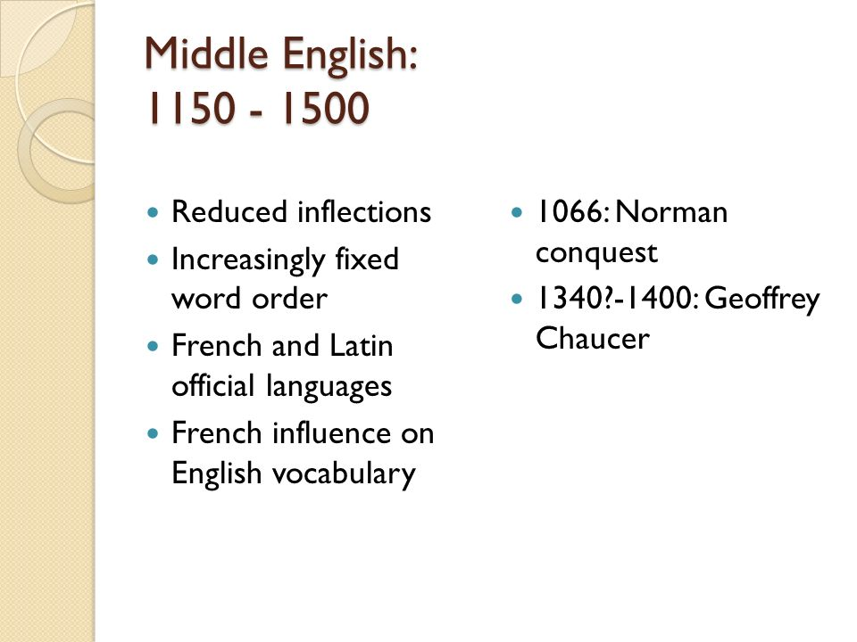 norman influence on english