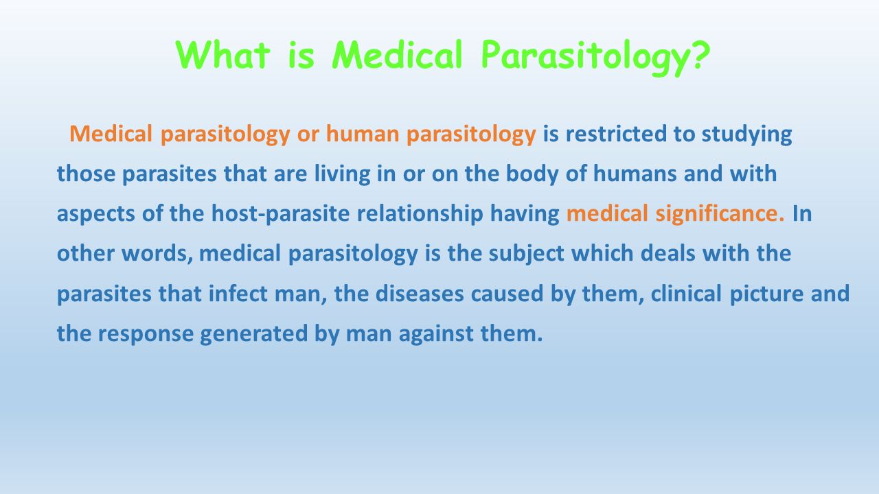 Introduction to Parasitology - ppt download