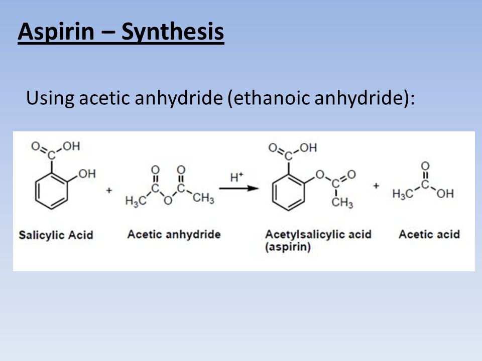 3 Aspirin Synthesis Using Acetic Anhydride Ethanoic