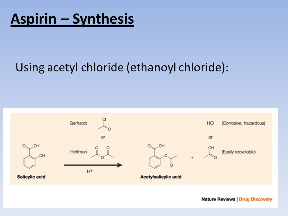 4 Aspirin Synthesis Using Acetyl Chloride Ethanoyl