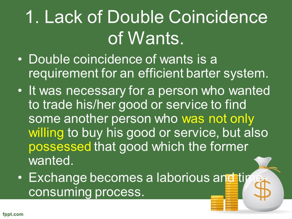 lack of double coincidence of wants