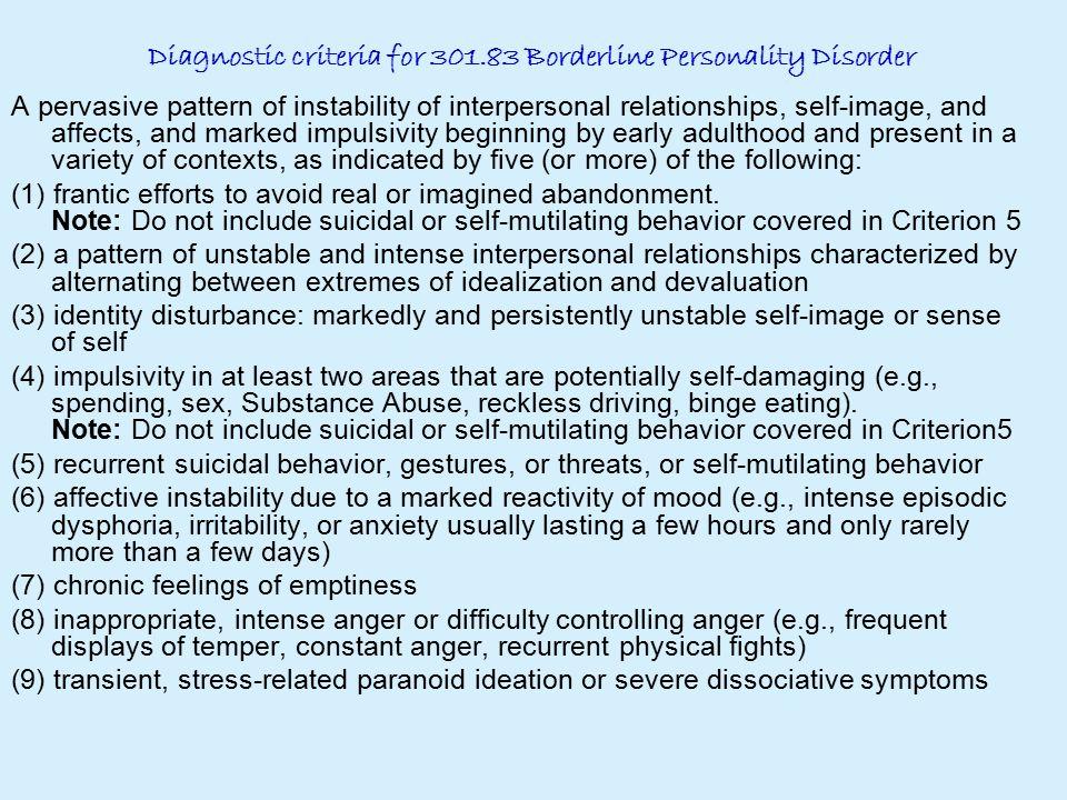 borderline personality disorder symptoms test