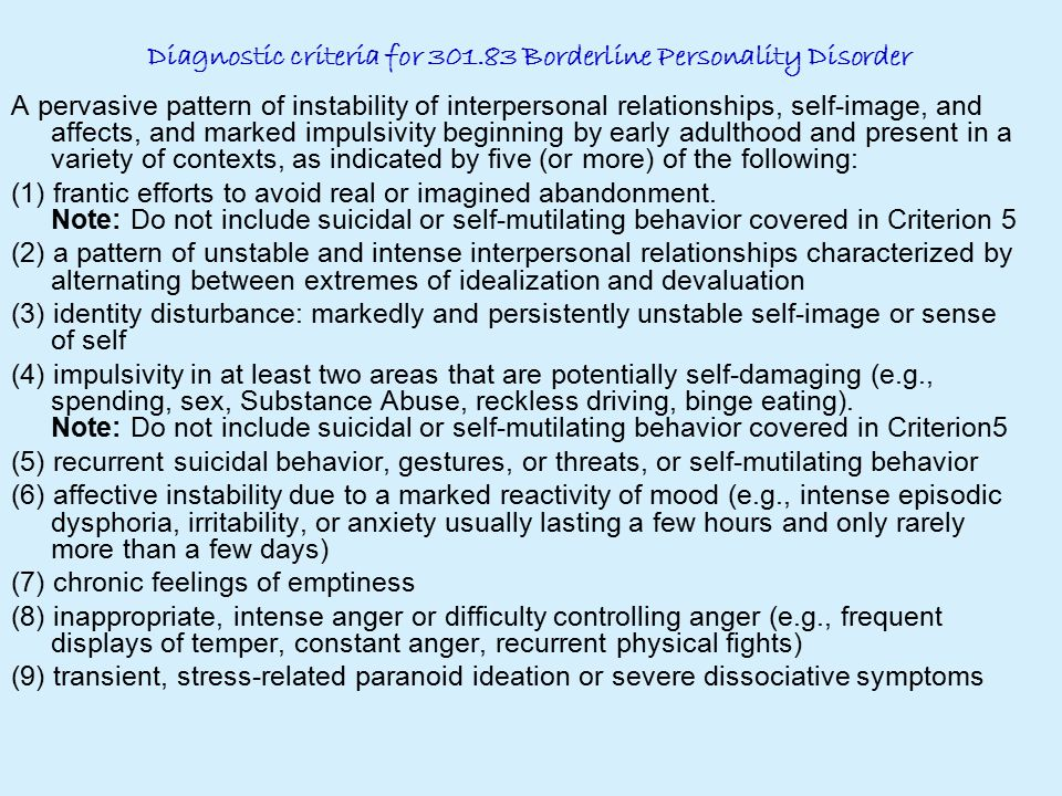 A Case Study Of Borderline Personality Disorder Complicated By Amazing Borderline Personality Relationship Pattern