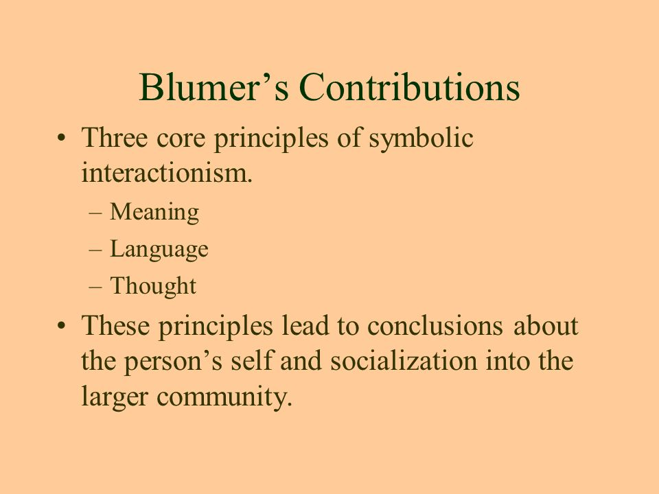 Symbolic Interactionism By George Herbert Mead Ppt Video Online