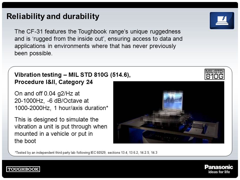Toughbook CF-31 The benchmark in true fully rugged design