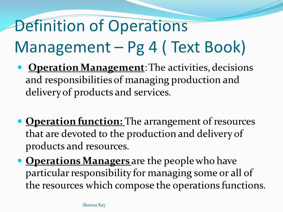 buy online: Functions Of Operations Management Pdf