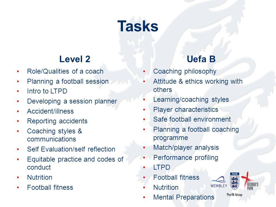 level 2 to uefa b licence coaches club event hunts fa