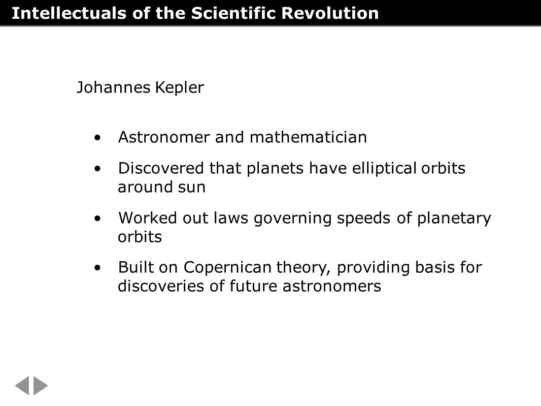 Intellectuals of the Scientific Revolution