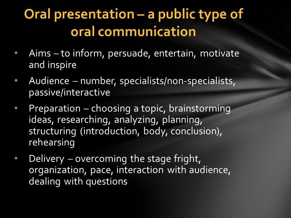 oral presentation topic ideas