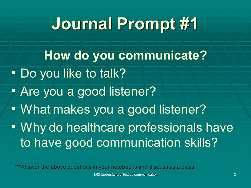 1 02 #1PPP Understand effective communication (2 4 days for