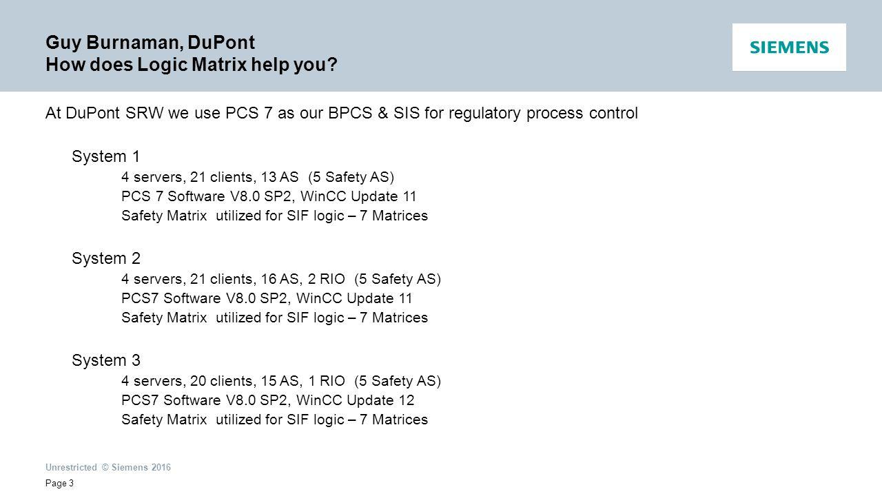 Siemens New Process Interlock Tool PCS 7 Logic Matrix - ppt