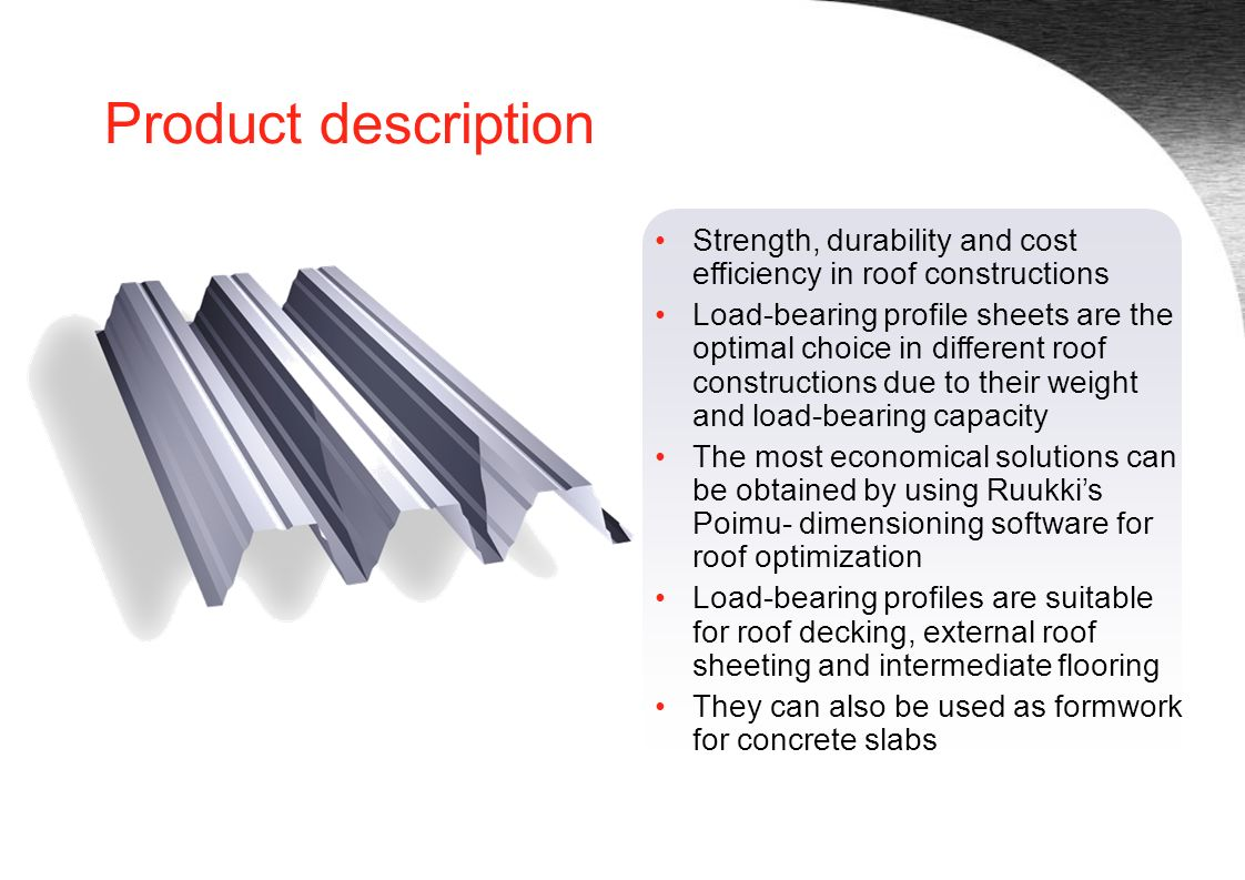 Load-bearing profiles - ppt video online download