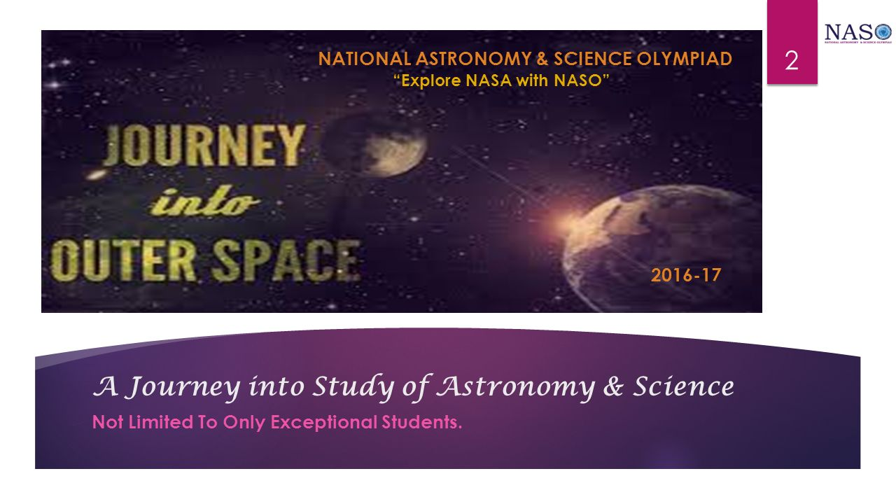 A Journey into Study of Astronomy & Science