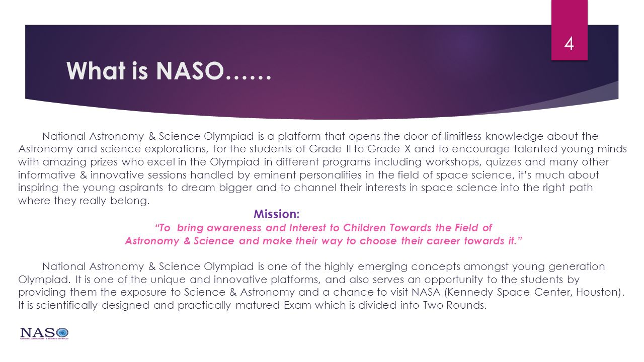 naso National astronomy & Science Olympiad - ppt video online download