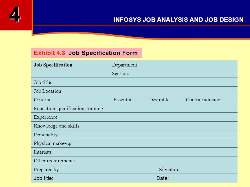 INFOSYS JOB ANALYSIS AND JOB DESIGN - ppt video online download
