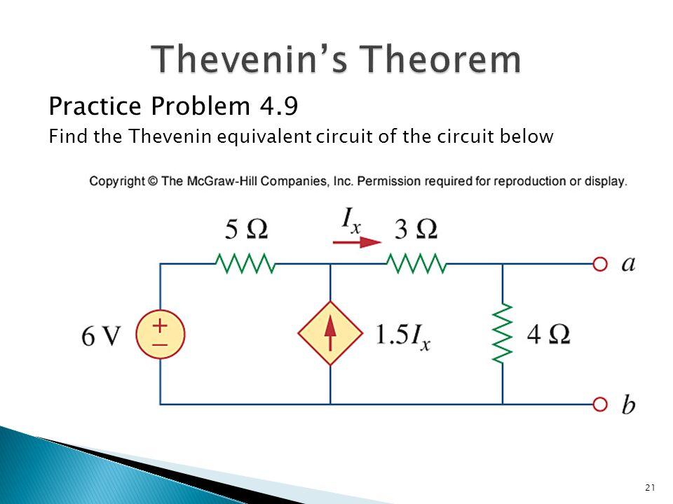 thevenin equivalent example problems