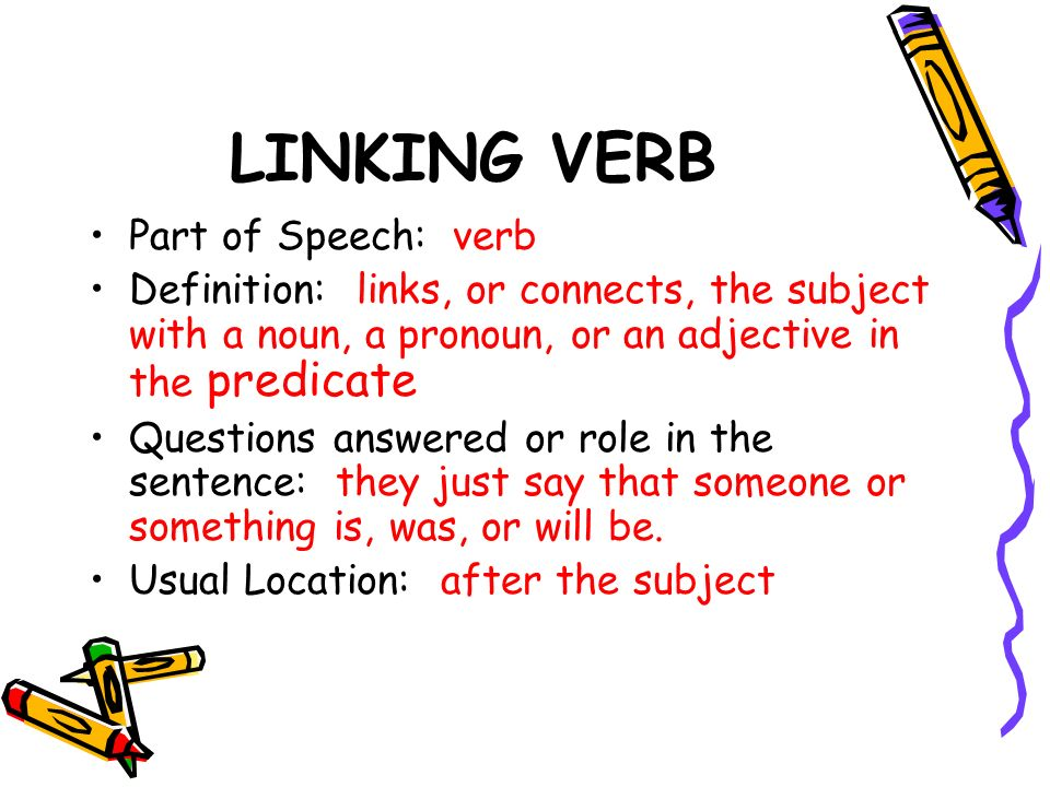 Linking Verbs Examples Gallery Example Cover Letter For Resume