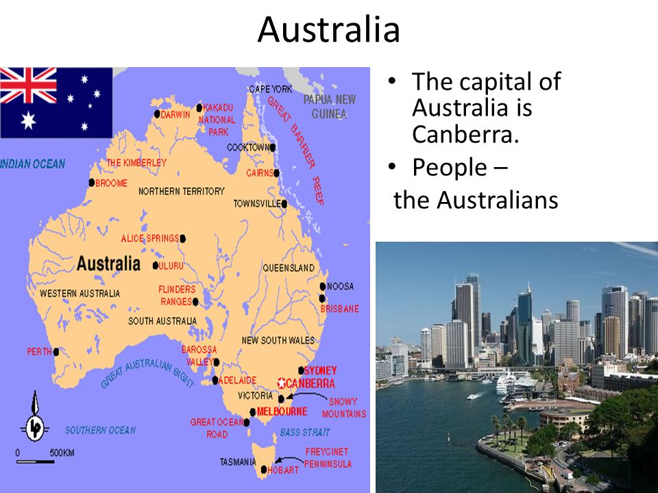 Australia The capital of Australia is Canberra. People –