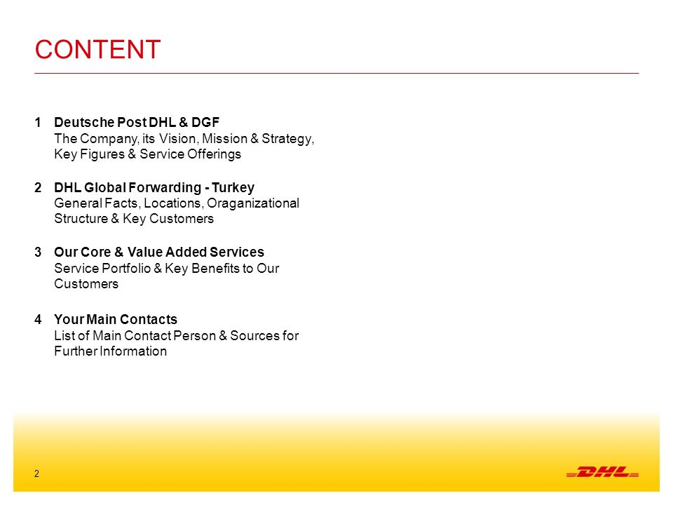 DHL Global Forwarding Turkey - ppt video online download
