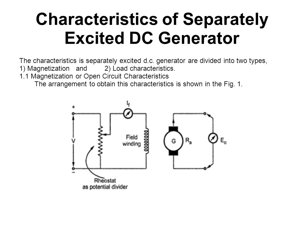 Characteristics+of+Separately+Excited+DC+Generator electrical machine submitted by riki paul( ) ppt download